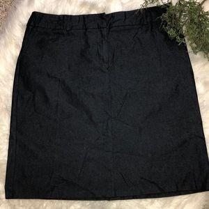 EUC Denim Stretchy Skirt Size 16